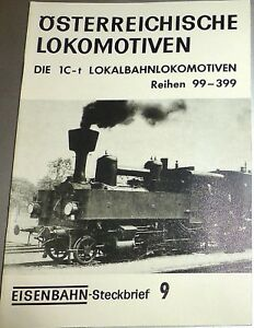 Railway Wanted Poster 9 Austrian Locomotives 1C-t Rh99-399 HJ3 Å