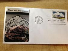 #1454 15c Mt. McKinley FDC Sarzin Metallic Cachet UA  FD6314C