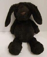 """Worn Manhattan Toy Bunny Rabbit Plush 12"""" Dark Chocolate Brown Soft Toy 2015"""