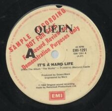 "QUEEN   Rare 1984 Aust Promo Only 7"" OOP Mis-Print Single ""It's A Hard Life"""