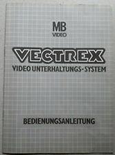 MB Vectrex Original Anleitung Ersatzt