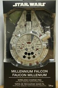 Star Wars Millenium Falcon Wireless Phone Charger Pad w AC Adapt, Apple Samsung