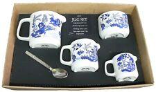 Blue willow pattern jugs, choice 3 sizes jug or sugar pot bowl 4/7/10oz or boxed