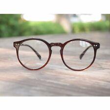 1920s Vintage oliver retro eyeglasses 41R82 Brown Round frames eyewear rubyruby