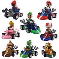 Super Mario Nintendo Wii Luigi Princess 12cm Pull Back Racer Go Kart Car Toy NEW
