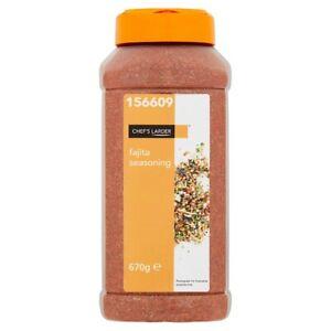 670g Brand Bew & Sealed Bulk Catering Size Fajita Spice Seasoning & Rub Mix