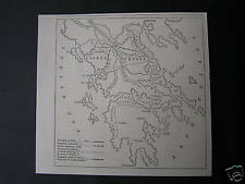 Antique print map Greece / landkaart Kaart Griekenland 1882