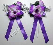 Autoschmuck Antennenschleifen Autoschleifen  Hochzeit  lila (6,00€ Stk)