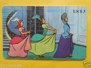 telefonkarten 1997 phone cards $ 3 units cinderella cenerentola cartes telephone