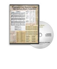 19th Century Freemason Masonic Organ Sheet Music, More - 5 Books on CD - D443