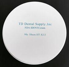 Single Shade HT Zirconia Disc (98.5  x 18mm) (HIGH TRANSLUCENT)