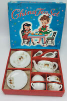 NOS 15 pc Vintage Mid Century Child's China Toy Tea Set Made in Japan  w Box