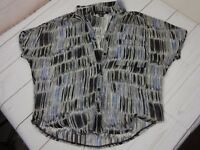 Forever 21 Womens Sheer Size S Button-Up Short Sleeve w/Peekaboo Shoulder Blouse