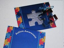 24 AUTISM AWARENESS COOKIE CUTTERS w/Cards puzzle piece design giveaways favors