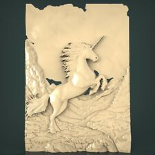 (1104) STL Model Unicorn for CNC Router 3D Printer Artcam Aspire Bas Relief