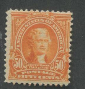 1903 US Stamp #310 50c Mint Hinged F/VF Original Gum Thomas Jefferson