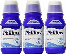 Phillips Milk of Magnesia Original 12 oz constipation ( 3 pack )