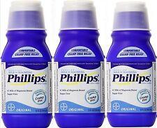 Phillips Milk of Magnesia Original 12 oz constipation ( 3 pack )
