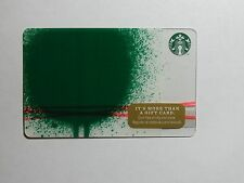 2014 - Green Blob - Holiday Issue Starbucks Card - New & Never Swiped