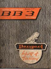 Notice d'entretien & utilisation PEUGEOT cyclomoteur BB3 SPORT  mobylette