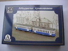 HO scale CCCP USSR Russian Sovjet two car trolley kit