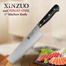 XINZUO 7 inch slicing knife 3 layer 440C clad steel kitchen knives Nikiri  Kinfe