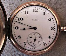 Hunting Case Pocket Watch Vintage 1922 Elgin Gold Filled