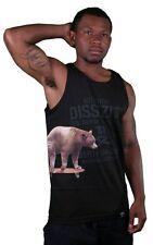 Dissizit Cali Cruiser Bear On Skateboard Black Or White Tank Top Shirt Made USA