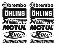 FE kit 12 auto logo technical sponsors RALLY car sticker decal audi bmw subaru