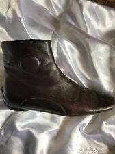 Miu Miu Brown Leather Ankle Boots Size 36.5