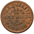 1861-65 Peru, Indiana J.S. Queeby Dry Goods Civil War Store Card Token