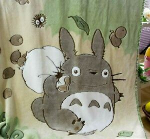 My Neighbor Totoro Oral Fleece Blanket Double Bath Towel Nap Blanket 100*140cm