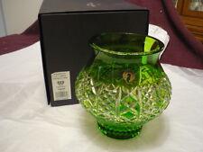 "WATERFORD Crystal Fleurology Liz Light Green Footed Cachepot Vase 7"" NIB"