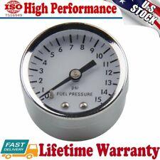 1561 White Face 0-15 psi,1-1/2 Inch diameter Analog Fuel Pressure Gauges USA