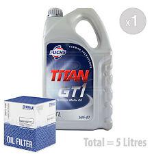 Engine Oil and Filter Service Kit 5 LITRES Fuchs TITAN GT1 XTL 5W-40 5L