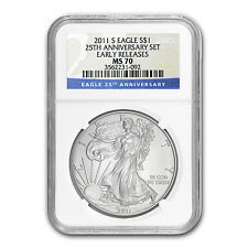 2011-S Silver American Eagle MS-70 NGC (ER, 25th Anniv) - SKU #70021