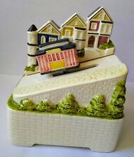 "Animated Music Box /Otagiri Fine Porcelain""San Francisco Cable Car� Collectible"