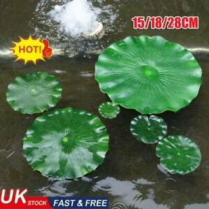 Artificial Fake Leaf Flowers Plastic Water Lily Floating Pool Decor UK