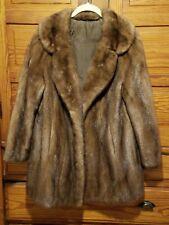 Genuine Mink Fur Coat 8,10,12 Medium Mint Stroller Length Lovely Light Weight