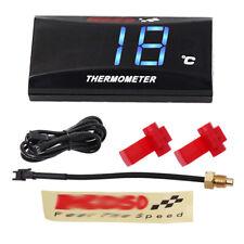 Motorcycle Digital Thermometer Meter Instrument Blue LED Water Temperature Gauge