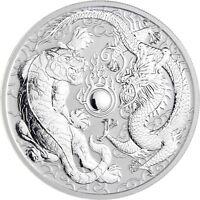 Australien 1 Dollar 2018 Drache und Tiger Stempelglanz 1 Oz Silber