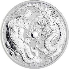 Australien 1 Dollar 2018 Drache und Tiger Silbermünze Stempelglanz 1 Oz Silber