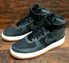 Rare Nike AF1 Air Force 1 High Premium Black Leather Trainers Women Men UK 5.5
