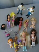 Grab Bag Lot Mattel Polly Pocket Dolls 3.5in Figures Rooted Hair + Misc Dolls