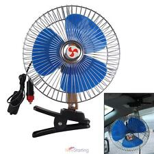 """12V 8"""" Portable Car Oscillating Cooling Fan with Clip Switch Outdoor Camping"""