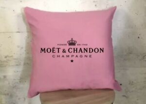 🍾MOET & CHANDON CHAMPAGNE PINK CUSHION COVER🍾
