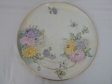 "VTG P.T. TIRSCHENREUTH BAVARIA GERMANY HAND PAINTED SIGNED 13"" ROUND PLATTER"