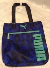 Puma Women Bag Blue sports fundamentals shopper tote book bag good for school
