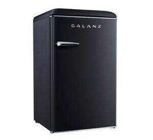 Galanz 3.5 cu ft Retro Fridge, Black, Brand New