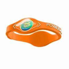 Authentic Power Balance Silicone Wristband - Cypress Orange/White - Small